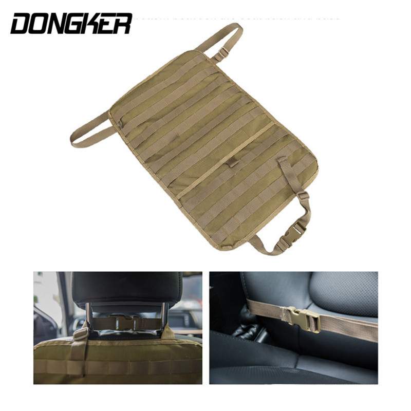 Tactical Molle Car Seat Organizer Cover 600D Nylon